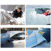 Thick Front Car Windshield Sunshade Snow Cover Half Aluminum Film Visor Sun Shield - SILVER