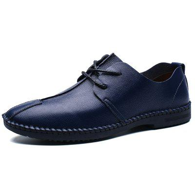 AILADUN Men Lace Up Casual Shoes Leather Male Footwear for Spring Autumn Summer