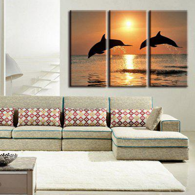 Precision Dolphin Pictures Printed Decor Canvas Painting without Frame
