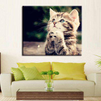 Precision Small Cat Pictures Printed Decor Canvas Painting without Frame