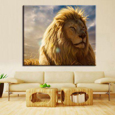Precision Lion Pictures Printed Decor Canvas Painting without Frame