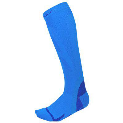 NUCKILY PF14 Outdoor Sports Socks Riding Off-road Running Marathons Men Stockings Breathable Absorbent Leg Compression Sock