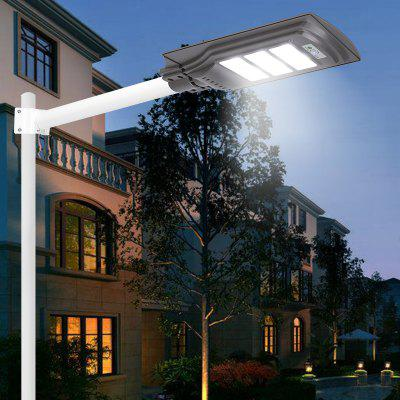 JS-046 Solar Street Lamp Radar Sensor Waterproof Road Light Outdoor Garden Lights with Remote Control Digital Display
