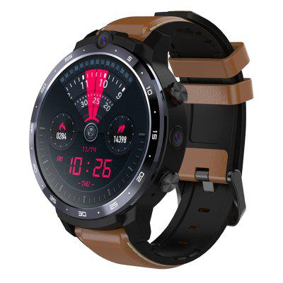 OUKITEL Z32 4G Smartwatch Phone with Wireless Charger 3GB RAM 32GB ROM Face ID Unlock 1.6 inch IPS Screen Dual Cameras 1800mAh Battery - Brown