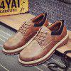 Retro Shoes Tooling Fashion Man Leather Shoes - BROWN