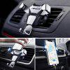Universal Metal Gravity Outlet Stents Car Navigation Phone Holder - GRAY