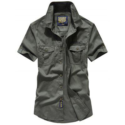 Men's Pure Color korte mouwen Shirts