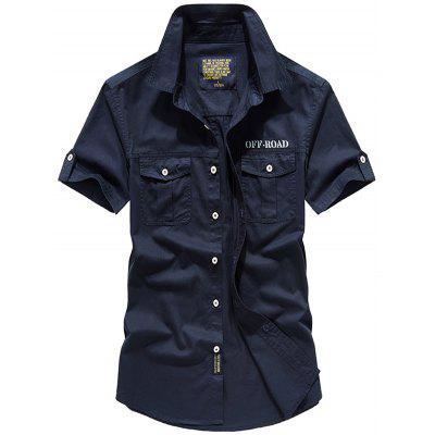 Men's Pure Color Short Sleeves Shirts