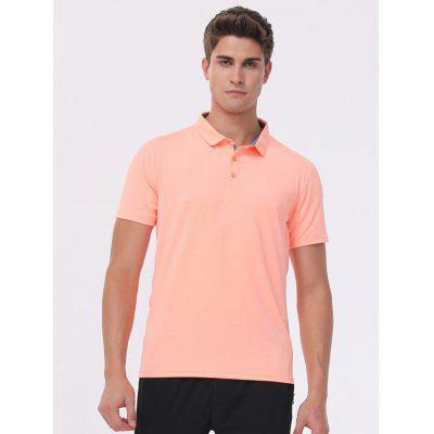 Male Quick-drying Lapel T-shirt
