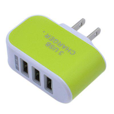 3 Plug Port USB Wall Charger Adapter