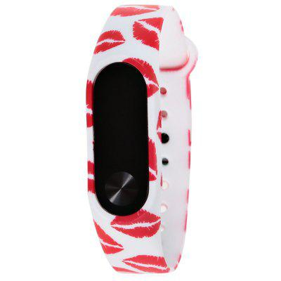 TAMISTER Flower Color Painted Pattern Replacement Wristband Strap for Xiaomi Mi Band 2