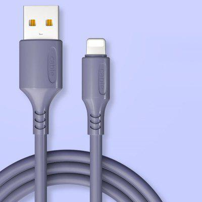 0,25 M Super Fast Charging Data Cable Color zachte rubberen Line voor Type-C / Android / iPhone