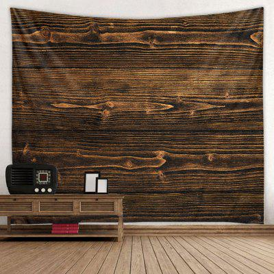 Coffee Color Wood Stripes Tapestry Polyester Wall Decorative Hanging Mat
