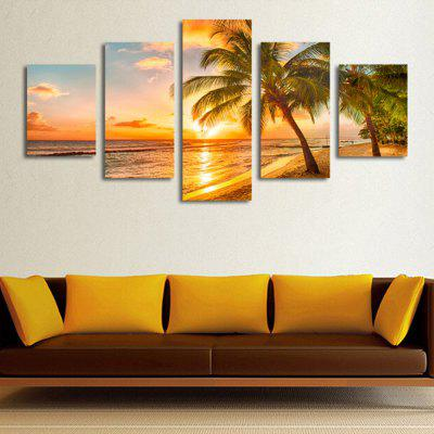 DC1-100.25 Summer Beach Precision Pictures Printed Decor Canvas Schilderen zonder kader 5pcs