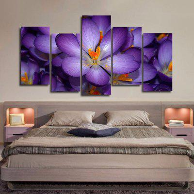 DC-100.2 3D Flower Decorative Canvas Painting Precision Pictures Printed Home Decor without Frame 5pcs