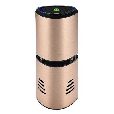 Anion HEPA Car Air Purifier USB Charging Air Fresher Aluminum Alloy Aromatherapy Diffuser