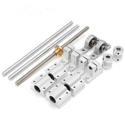 400mm Optical Axis Guide Bearing Housings Linear Rail Shaft Support Screws Set
