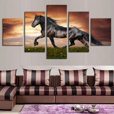 HD Printed Canvas Pictura Running Horse Poster Animal Wall Art Picture Home Decor pentru camera de zi fără ramă