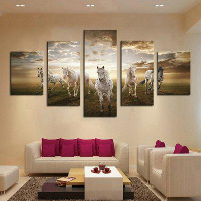 HD Printed Canvas Pictura Faneata Running Horse Poster Animal Wall Art Picture Home Decor pentru camera de zi fără ramă
