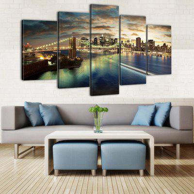 HD Printed Canvas Painting City Scene Poster Realistic Wall Art Picture Home Decor for Living Room Without Frame