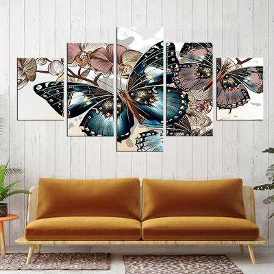 Precision Butterfly Pictures Printed Decor Canvas Painting without Frame