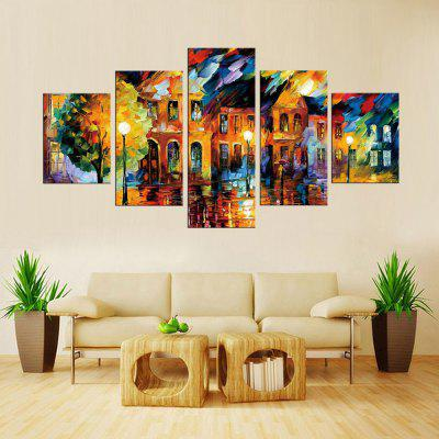 Precision City Light Pictures Printed Decor Canvas Painting without Frame