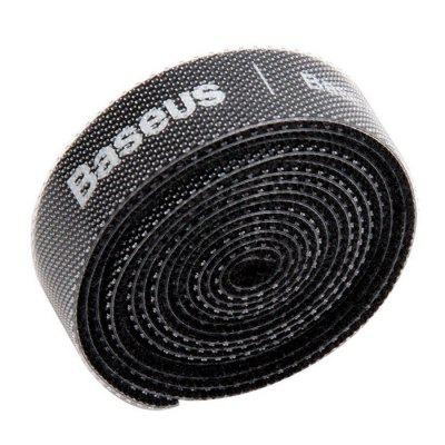 Baseus Circle Velcro Strap Reusable Cable Tie Fastening Tape Wire Organizer 1m