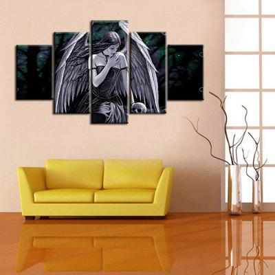 Precision Wings Woman Pictures Printed Decor Canvas Painting without Frame