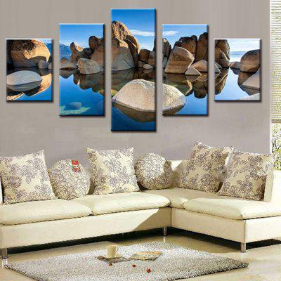 Precision Lake Rock Pictures Printed Decor Canvas Painting without Frame