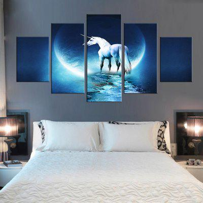 Precision White Horse Pictures Printed Decor Canvas Painting without Frame