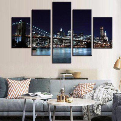 Precision Night Bridge Pictures Printed Decor Canvas schilderij zonder lijst