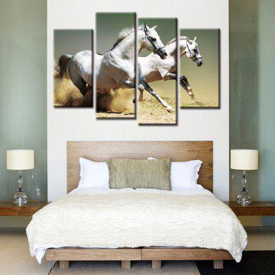 Precision Horse Pictures Printed Decor Canvas Painting without Frame