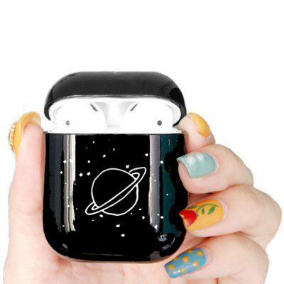 Bluetooth Headset Protective Sleeve Draadloze koptelefoon opladen Box Cover Cartoon Space Planet Hard Case voor Apple Airpods 1 2