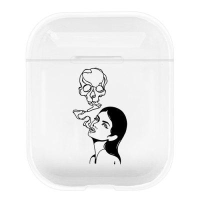 Bluetooth Earphone Protective Sleeve Wireless Headset Charging Box Cover Cartoon Scrawl Travel Hard Case Protector for Apple Airpods 1 2