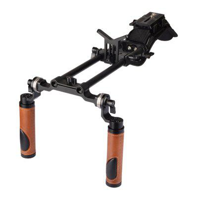 H2064 Pro Camcorder Shoulder Rig with Manfrotto QR Base Plate