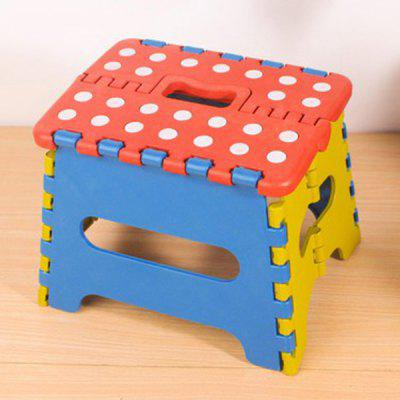 Dot Pattern Folding Stool Portable Outdoor ABS Small Bench Camping Seat Home Train Indoor Foldable Chair