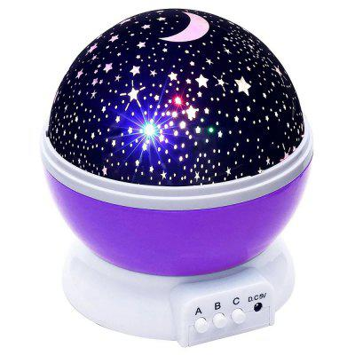 Creative Romantic Starry Night Light Projector USB Charging or Battery Powered Desk Lamp Home Decoration for Children