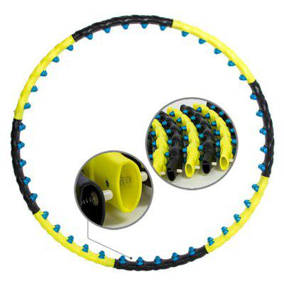 Double Row Magnet Sport Hula Hoop Fitness Massage Ring Detachable Workout Exercise Circle Equipment
