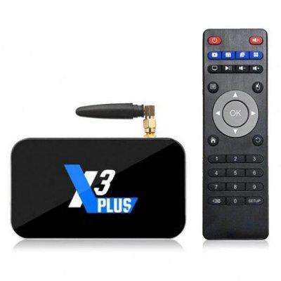 UGOOS X3 Plus Smart TV Box com Amlogic S905X3 4GB LPDDR4 64GB ROM 2,4GHz + 5,0GHz Dual-band WiFi 1000Mbps USB3.0 BT4.2 UHD 4K H.265 Suporte de Hardware 4K 60FPS