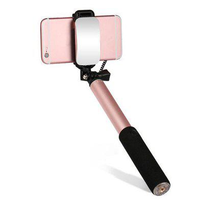 Mini Selfie Stick Monopod with Mirror for Smartphone