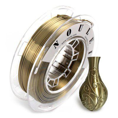 Noulei 3D Printing Filament Silk PLA Shiny Copper 1.75mm 0.25kg Spool for 3D Printer Material