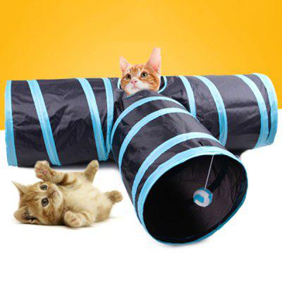 Three-ring Paper Cat Tunnel Drilled Cat Toys Cat Collapsible Channel