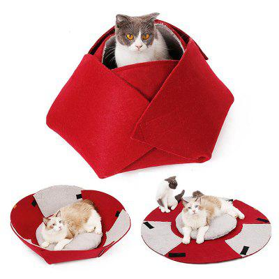 PC50022 Indoor Pet Nest Foldable Bed with Soft Pad for Small Dog / Cat