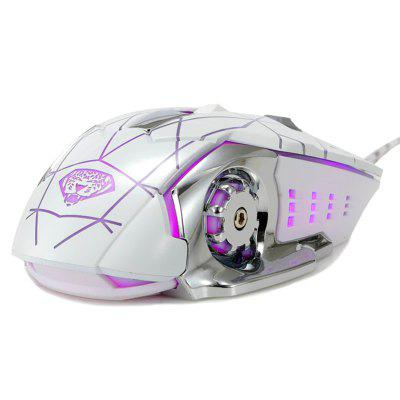 G502 Gaming Mouse 4-barevné LED Light 4 Files DPI 800/1200/2000/3200