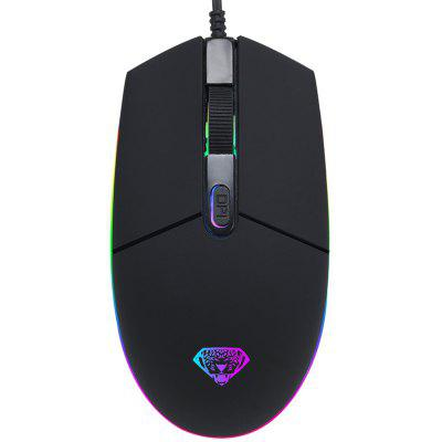G102 Stolný počítač Notebook RGB luminiscenčné USB Gaming Mouse Wired