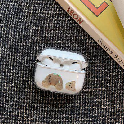 Cute Cartoon Pattern Transparent Protective Case Sleeve for Airpods Pro