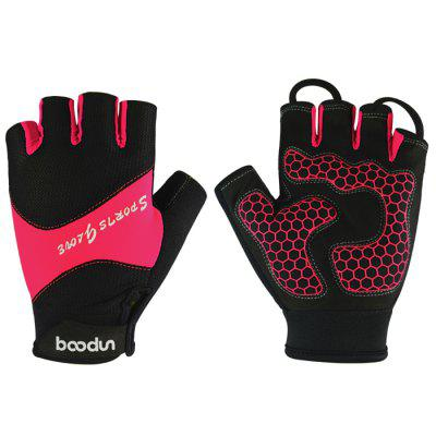 BOODUN Thin Breathable Non-Slip Half-finger Gloves Summer Fitness Half Glove for Gym Cycling Yoga Training Women Men