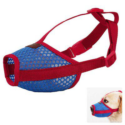 PD60042 Breathable Mesh Adjustable Pet Dog Muzzle Anti-bite Screaming Sounds Prevent Accidental Eating