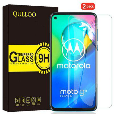 QULLOO 2.5D Full Cover Protector Glass Protective Film for Motorola Moto G8 Power