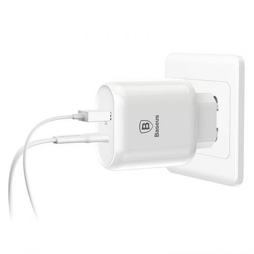 Baseus Bojure Series Type-C PD + USB Quick Charge EU Charger Power Adapter 32W with Cable